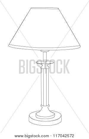 Vector illustration Night Lamp