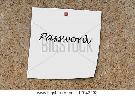 Password Written On A Memo