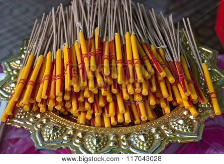 Incense, Candles For The Altar.