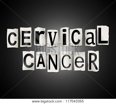 Cervical Cancer Concept.