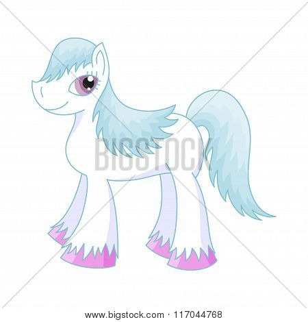 Vector illustration of cute horse, romantic pony