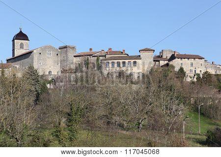 Medieval village of Perouges in France