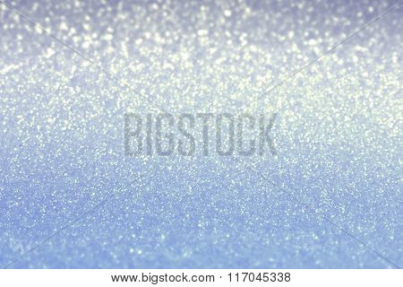 Blurred Blue Shiny Background. Valentine's Day And Mother's Day Background. Soft Focus