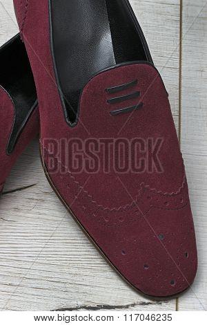 Leather men shoe