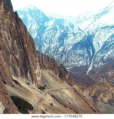 View Of Himalayas Mountains