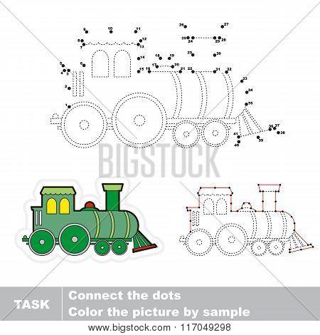 Locomotive. Vector numbers game.