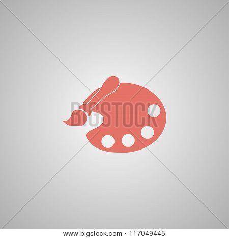 Brush Icon Illustration. Vector
