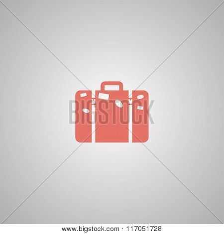 Bag Icon. Flat Design Style.