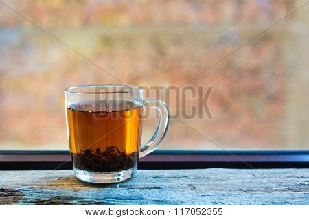 Glass Of Black Tea