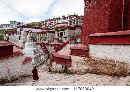 The temple in Tibet