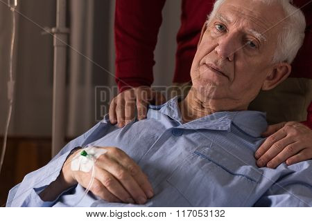 Terminal Patient On A Drip