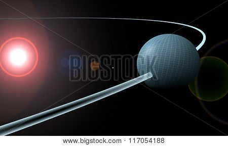 Sphere Or Planet Is Orbiting A Sun