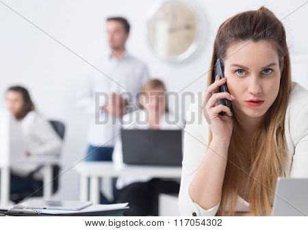Tired Businesswoman During Pregnancy