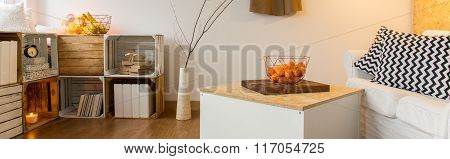 Eco Style Interior With Good Atmosphere