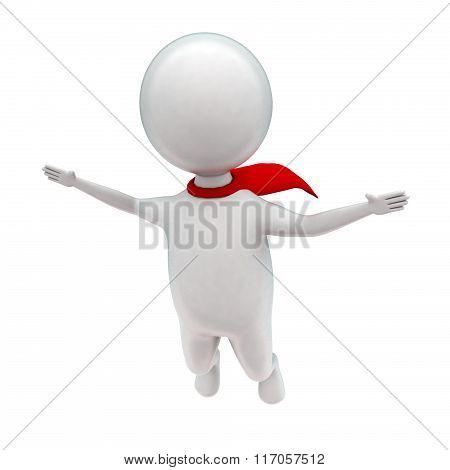 3D Super Hero Flying Concept