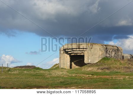 German Submarine Base Fortifications At The Cape Of Pointe De Pen-hir, Bretagne, France