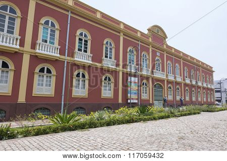 Facade Of The Palacete Provinical (provincial Manor House) In Manaus, Brazil