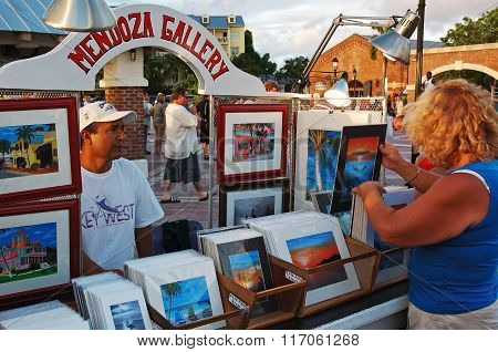 Seller Of Colored Prints