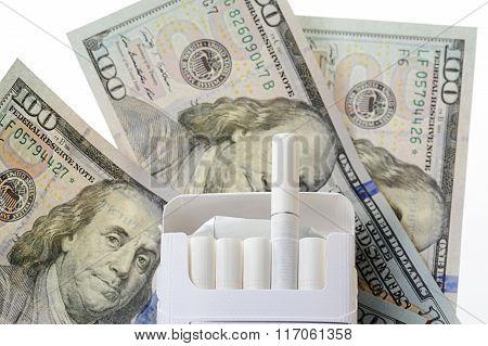 Box Cigarette On Dollars