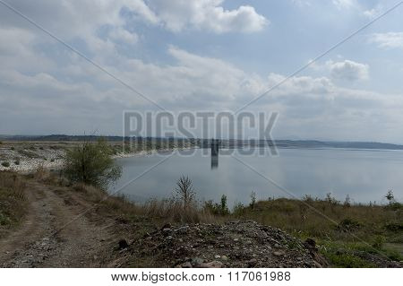 View of largest  dam lake Ogosta gather water of three river