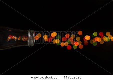 Glass Bottle Bokeh Firework