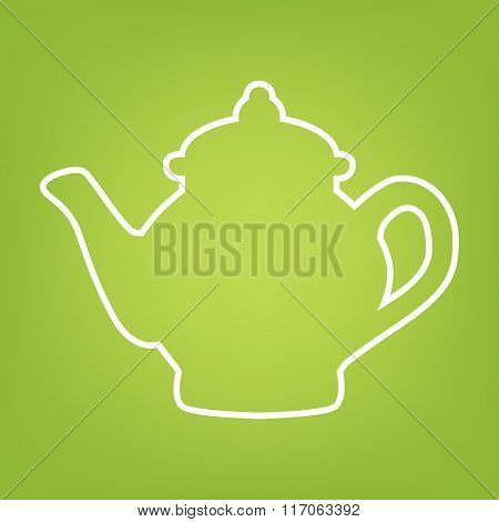 Tea maker line icon