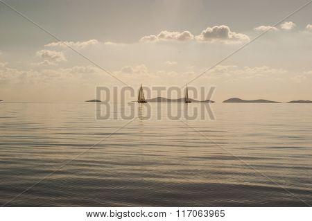 Calm Adriatic sea