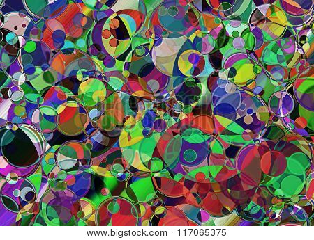 Spotty Multicolored Abstract Background.