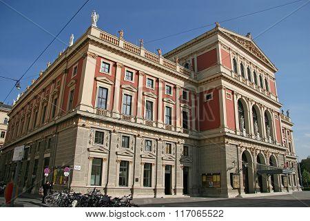 Vienna, Austria - April 22, 2010: Building Of Gesellschaft Der Musikfreunde (society Of Friends Of T