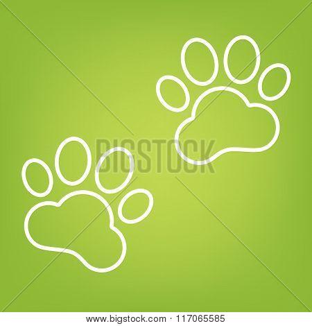Animal Tracks line icon