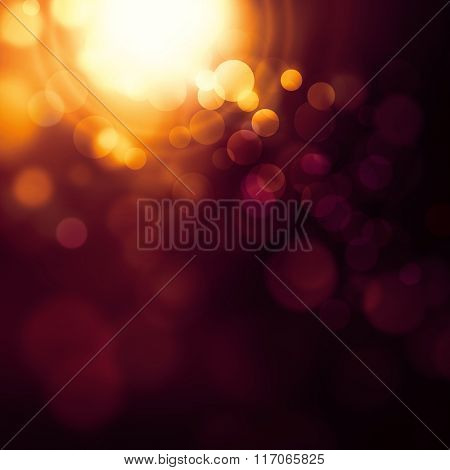 Flash background with flare light - abstract bokeh design