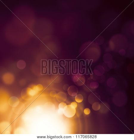 Flare background dark purple with shiny light - bokeh design abstract