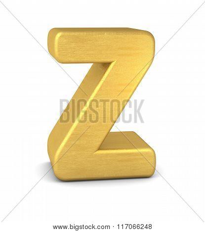 3D Letter Z Gold