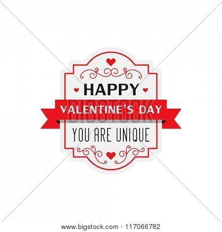 Happy Valentine's day badge