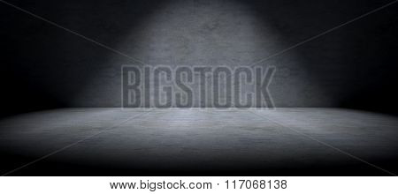 Cement floor background and spot light