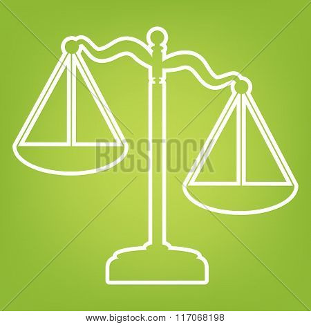 Scales of Justice line
