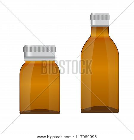 Medical Glass Brown Bottle