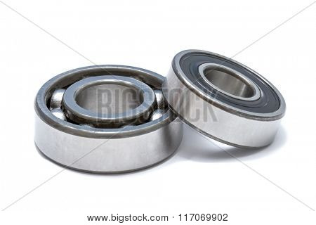 Ball bearing on white background
