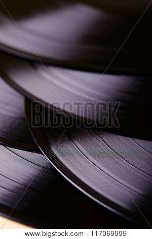 Several Lp Records On Table