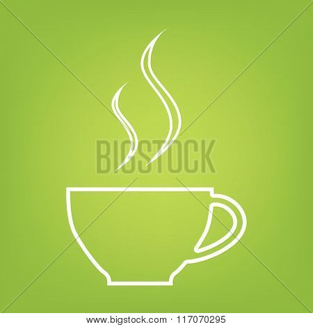 cup of coffee line icon