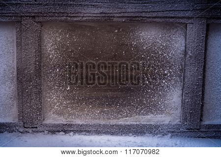 Frosted Winter Window