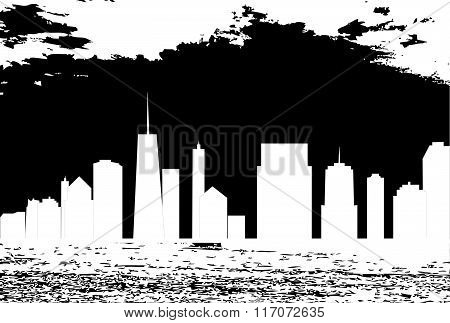 vector illustration of cities silhouette