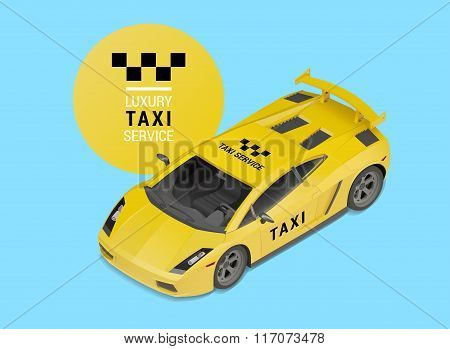 taxi car luxury service vector
