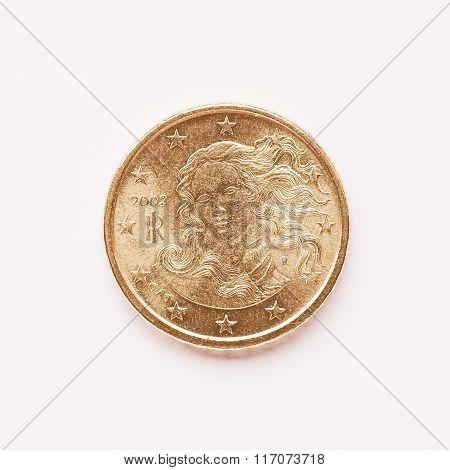 Italian 10 Cent Coin Vintage