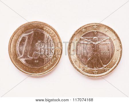 Italian 1 Euro Coin Vintage