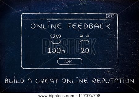 Online Feedback Pop-up Window With Text Build A Great Online Reputation
