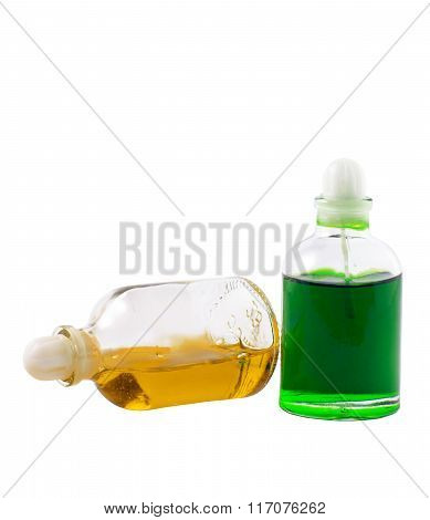Two Bottles With Aromatic Oils