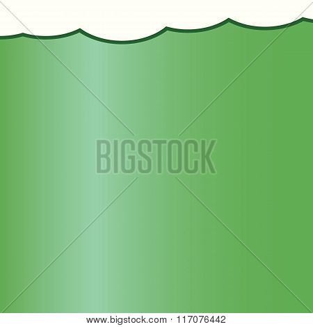 Happy Saint Patrick Day Card With Close Up Glass Of Green Irish Beer