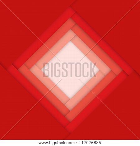 Red Abstract Material Design Background
