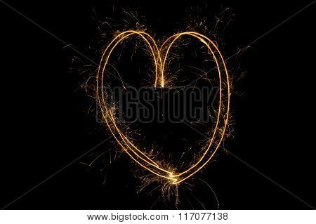 Abstract Valentine's day glowing background